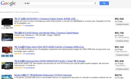 Busca Google Shopping