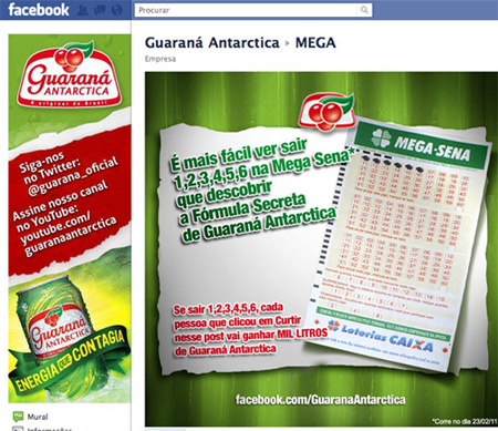Facebook Guaraná Antartica